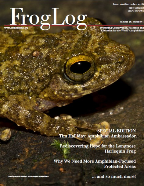 This image has an empty alt attribute; its file name is FrogLog120_cover-1.jpg
